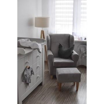 Fotel do karmienia szary