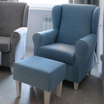 Fotel do karmienia błękitny