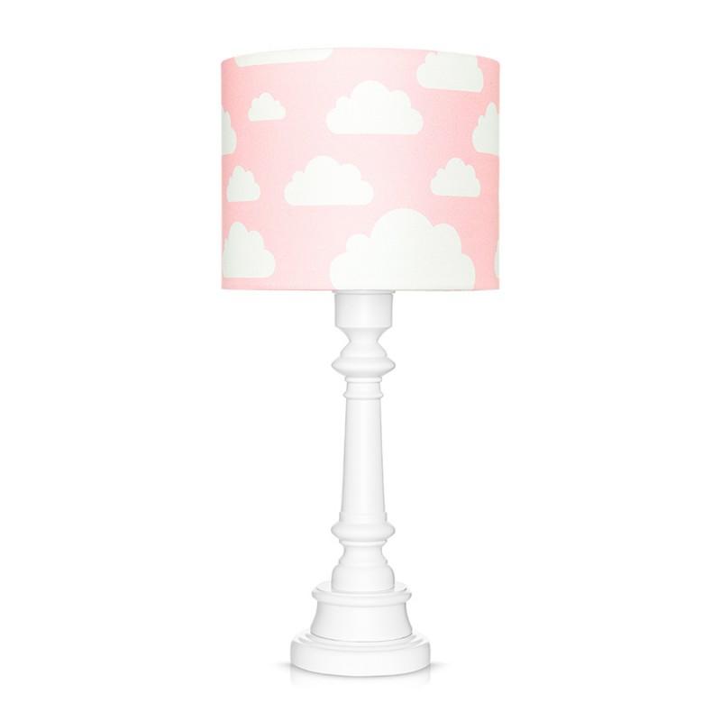 Lampa stojąca różowa w...