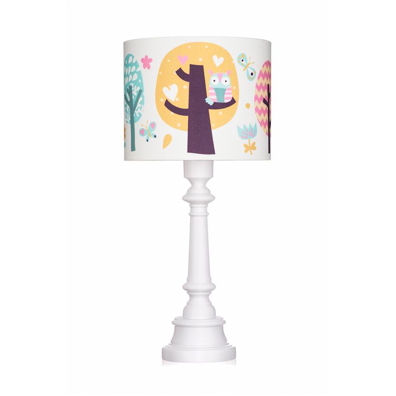 Lampa stojąca w sowy -...