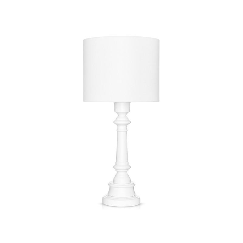 Lampa stojąca biała -...