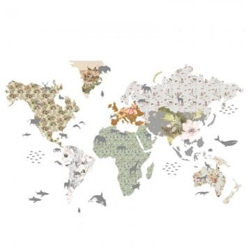 Naklejka Mapa 8 Flowers