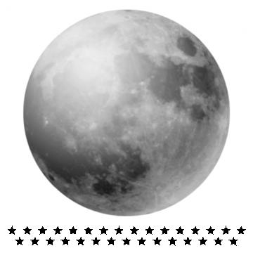 Naklejka Księżyc w Pełni...