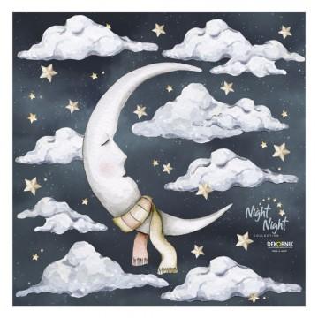 Naklejka Księżyc Night...