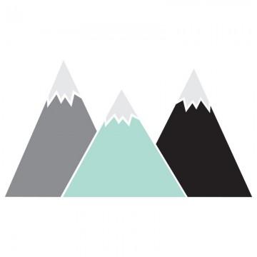 Naklejka Góry Pastel