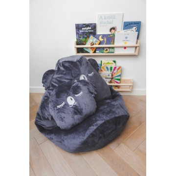 Kids Space puf KOALA - grafit