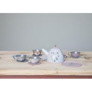 Zestaw herbaciany metalowy...