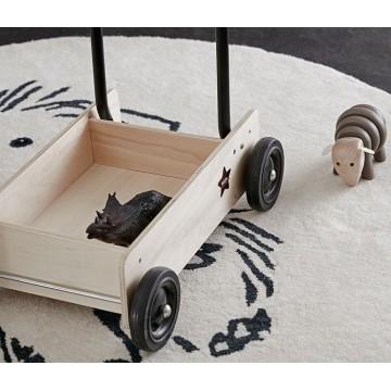 Drewniany wózek do pchania Neo