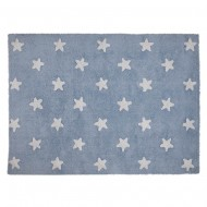 Dywan Blue Stars White...