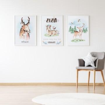 Plakat na ścianę Mały Jelonek