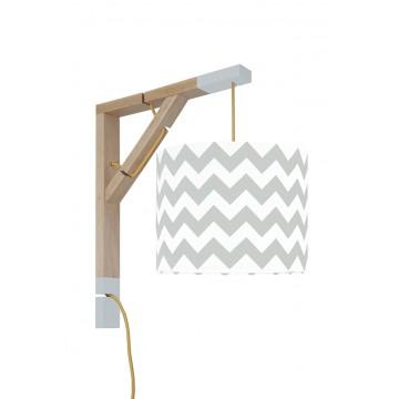 Lampa Simple Chevron szary...