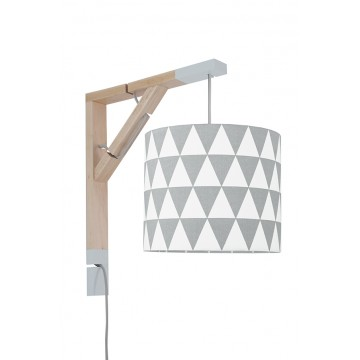 Lampa Simple trójkąty szare...