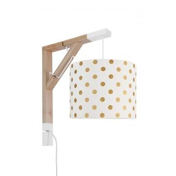 Lampa Simple grochy złote...