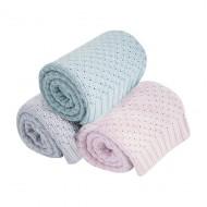 Różowy kocyk - 100% bawełny