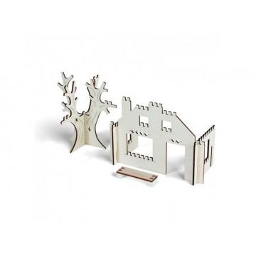Domek z drzewem- zestaw...