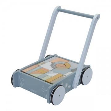 Wózek z klockami Błękitny...