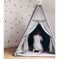 Szary namiot Tipi dla dzieci