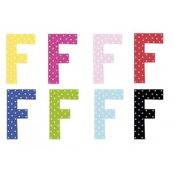 Litera F - dekoracja na ścianę
