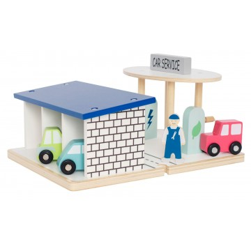 Drewniana stacja benzynowa,...