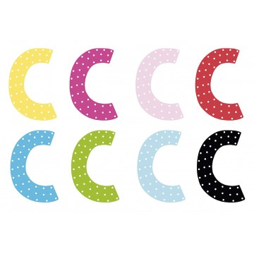 Litera C - dekoracja na ścianę