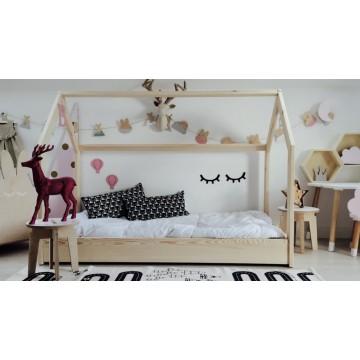 Drewniane łóżko domek -...