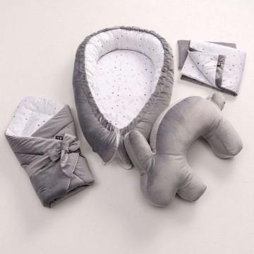 Rożek Velvet Nest Premium gray