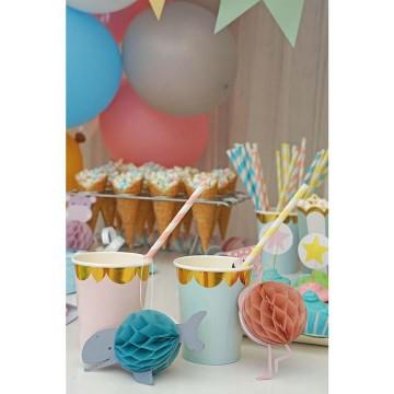 Kubeczki urodzinowe różowo...