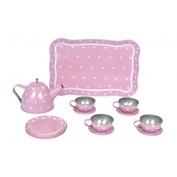 Serwis do herbaty różowy...