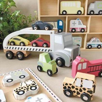 Drewniane puzzle pojazdy...