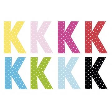 Litera K - dekoracja na ścianę