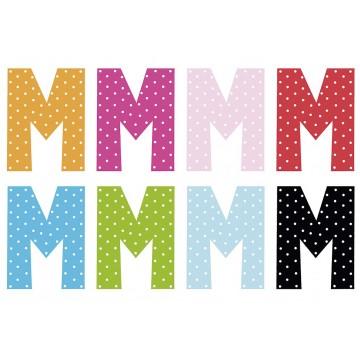 Litera M - dekoracja na ścianę