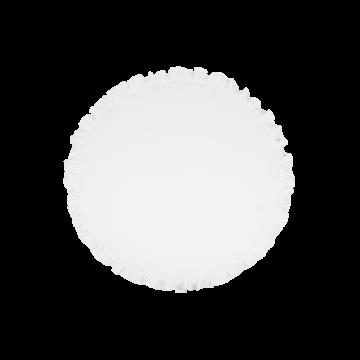 Mata do zabawy z falbaną biała