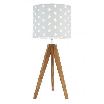 Lampa stojąca trójnóg szara...