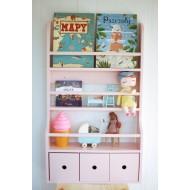 Drewniana półka na książki...