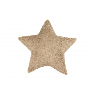 Futrzana poduszka gwiazdka...