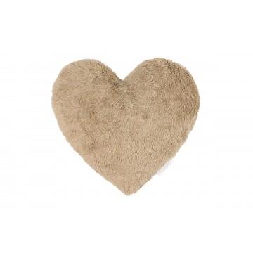 Futrzana poduszka serce...