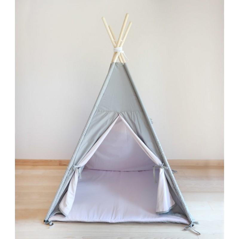 Namiot tipi teepee dla dzieci Pudrowy Róż Szary Mamadame