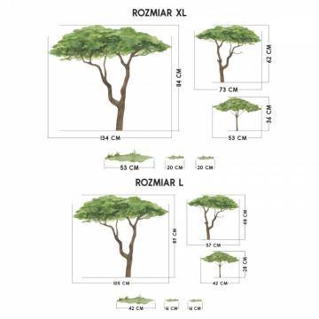 Naklejka Drzewa 3szt. DK425