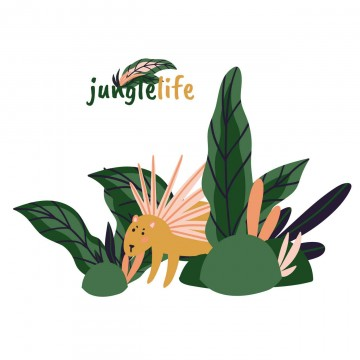 Naklejka złóżkownik Jungle...