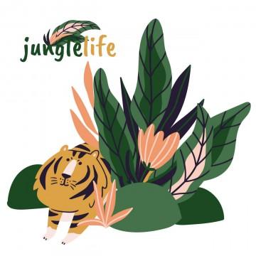 Naklejka załóżkownik Jungle...