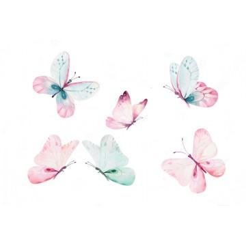Naklejka Zestaw Motyli
