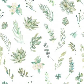 Tapeta Kwiaty Zielone Liście
