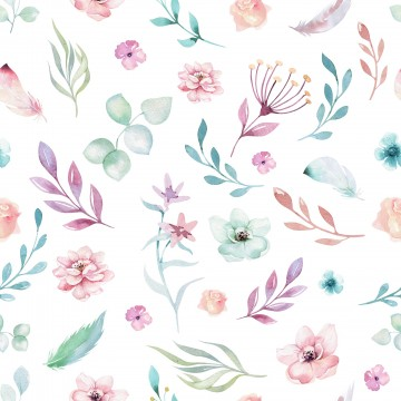 Tapeta Kwiaty Łąka