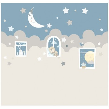 Tapeta Niebo i Księżyc