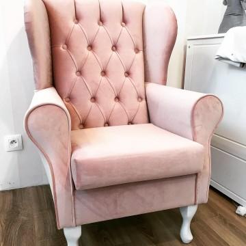 Fotel do karmienia pikowany