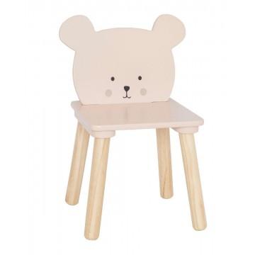 Drewniane krzesełko miś...
