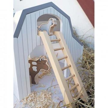 Drewniana zagroda, farma...