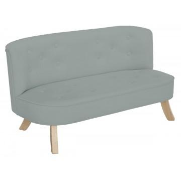 Sofa dla dzieci - szary welur
