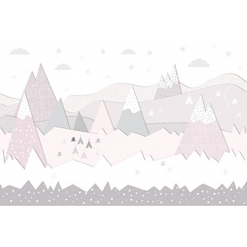 Fototapeta Góry Różowe -...