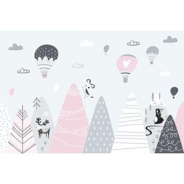 Fototapeta Góry z balonami...
